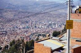 La Paz from El Alto, Bolivia