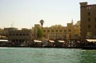 Dubai Old Town from Dubai Creek, Dubai, United Arab Emirates